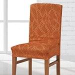 Zebra Textil Alexia Housse de Chaise élastique, Tissu, Orange, Dossier