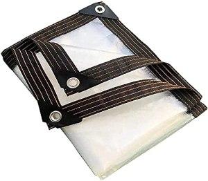 DONGQISHANGMAO Imperméable, anti-huile, protection transparente contre le goudron, imperméable, multi-usages, boucle en métal, auvent d'urgence pour l'eau de pluie Bâche lourde (Taille : 3 x 6 m)
