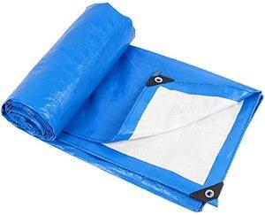 DONGQISHANGMAO Tarwood Housse étanche et résistante à l'eau en goudron bleu, étanche, avec boucle en aluminium, très adaptée pour le sac à dos, le camping et le refuge (taille : 3 x 6 m)