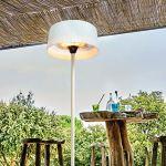 FAVEX – Parasol Chauffant électrique Sirmione Blanc – Extérieur – 3 Puissances de Chauffe – Économique – 74 x 74 x 224 cm