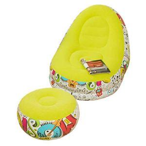 JIAYING Gonflable Canapé Extérieur de l'air intérieur Canapé gonflable Dormir Chaise longue gonflable Canapé gonflable de loisirs Chaise Canapé, pratique et durable, for la maison en plein air Camping