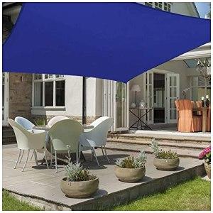 LJP Voiles D'ombrage Rectangulaire,Auvent Imperméable UV,Protection Voile D'ombrage Rectangulaire pour Jardin Terrasse Camping,Noir,Plusieurs Tailles 2m,3m,4m,5m Shade Tarp 3x3m