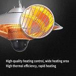 LXBH Chauffage De Terrasse,Chauffage De Plafond Télécommande IP44 avec Housse De Protection Parasol Chauffant Chauffage De Plafond Infrarouge Chauffage De Balcon Réglage À Deux Vitesses