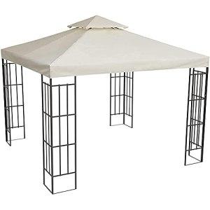 Toile De Rechange pour Pavillon 3 X 3 M Toile De Toit De Rechange en Polyester pour Pavillon