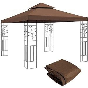 Toit De Rechange pour Pavillon De Jardin 3 X 3 M Polyester Haute Densité Imperméabilisé 200 G/M²
