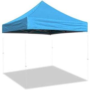 Toit De Rechange pour Tonnelle 3 X 3M Toile De Toit Toit De Rechange pour Tonelle Pergola Gazebo Imperméable Jardin Terrasse Extérieur Protection Contre Le Soleil,Light Blue