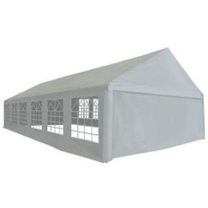 vidaXL Tente de Réception PE 6×12 m Gris Tente de Jardin pour Fête Mariage