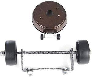 XYLUCKU Kit de roue mobile universelle de rechange pour parasol chauffant à gaz (facile à déplacer/installer)