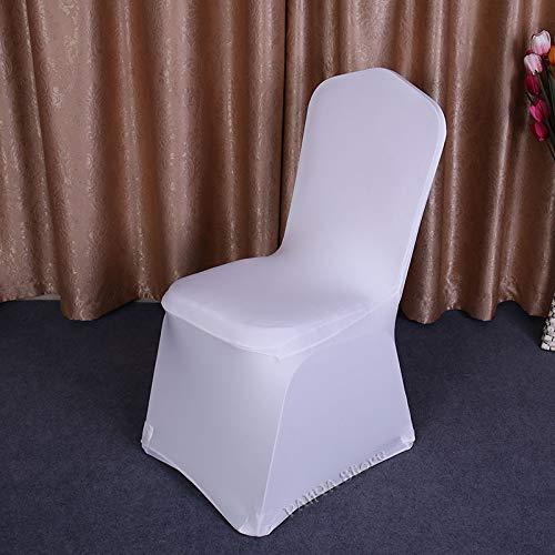25 50 100 Pcs Universel Blanc Stretch Spandex Chaise Couverture Lycra Polyester Tissu De Mariage Banquet Party Hôtel Salle À Manger Chaise Couvre Housse De Chaise