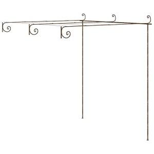 Ksodgun Arche de Rosiers de Jardin Pergola de Jardin Tonnelle de Patio Plantes Grimpantes Arche de Terrasse Extérieur Marron Antique 3x3x2,5 m Fer