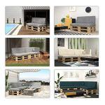 POKAR Coussin pour Palettes Euro – 1x Petit Coussin 40 x 40, en Mousse formée à Froid, très Confortable, Canapé de Jardin, Intérieur et Extérieur, sans Palette, Gris