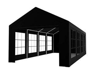 Tente de réception 4x8m Semi Professionnelle 180 GR/m² PE Noir tonnelle de Jardin