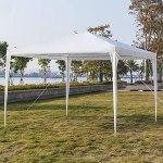 Tonnelle de Jardin Tonnelle Pliante Imperméable Tente de Reception 3X3m avec 4 Parois aux UV Pavillon Blanc Bâche PE Epaisse de env pour Fête Marriage Les Activités Commerciales