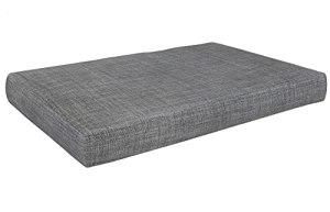 POKAR Coussin pour Palettes Euro – 1x Assise 120cm x 80cm x 15cm, en Mousse formée à Froid, très Confortable, Canapé de Jardin, Intérieur et Extérieur, sans Palette, Gris