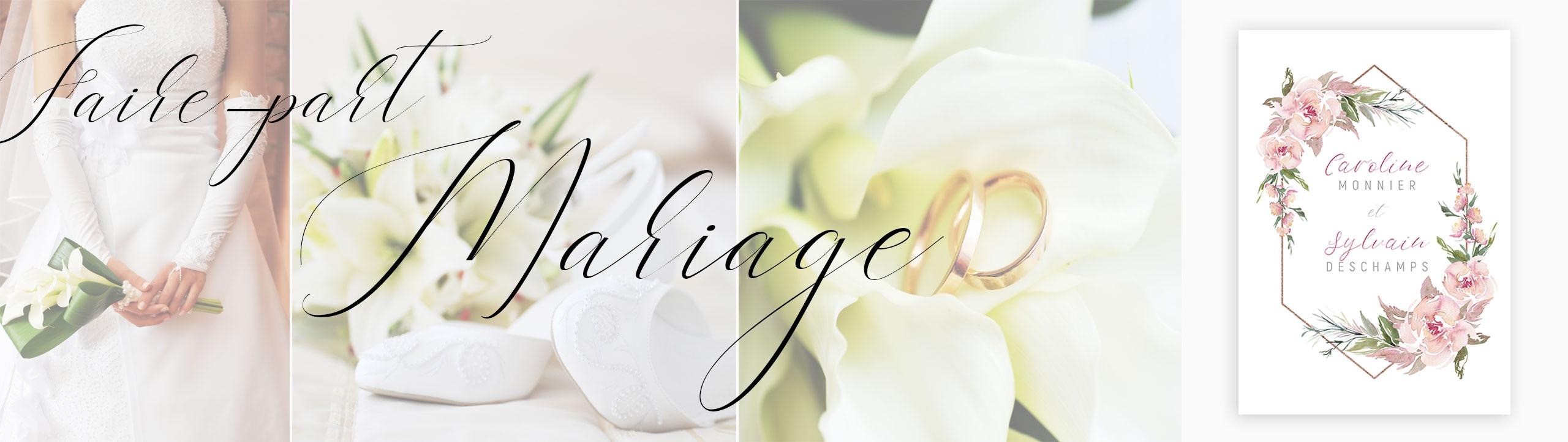 faire part de mariage personnalisables
