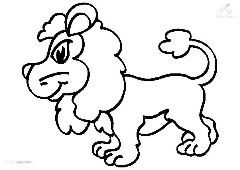 free baby lion coloring pages