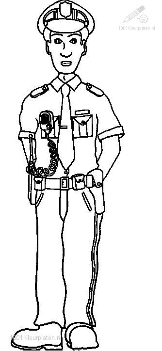 1001 Coloringpages Jobs Police Police Officer Coloring Page