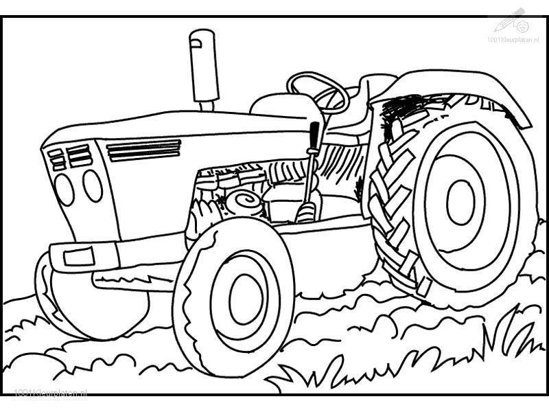 Mewarna08: Kleurplaat Tractor Claas
