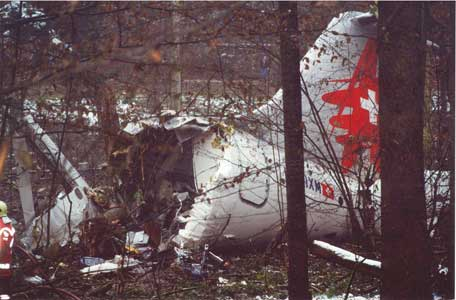 Accident Of A Bae 146 300 Operated By Crossair Zurich
