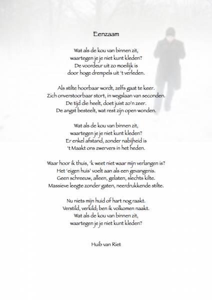 1001 Gedichten Amp Gedichtjes Gedicht Eenzaam Door Huib