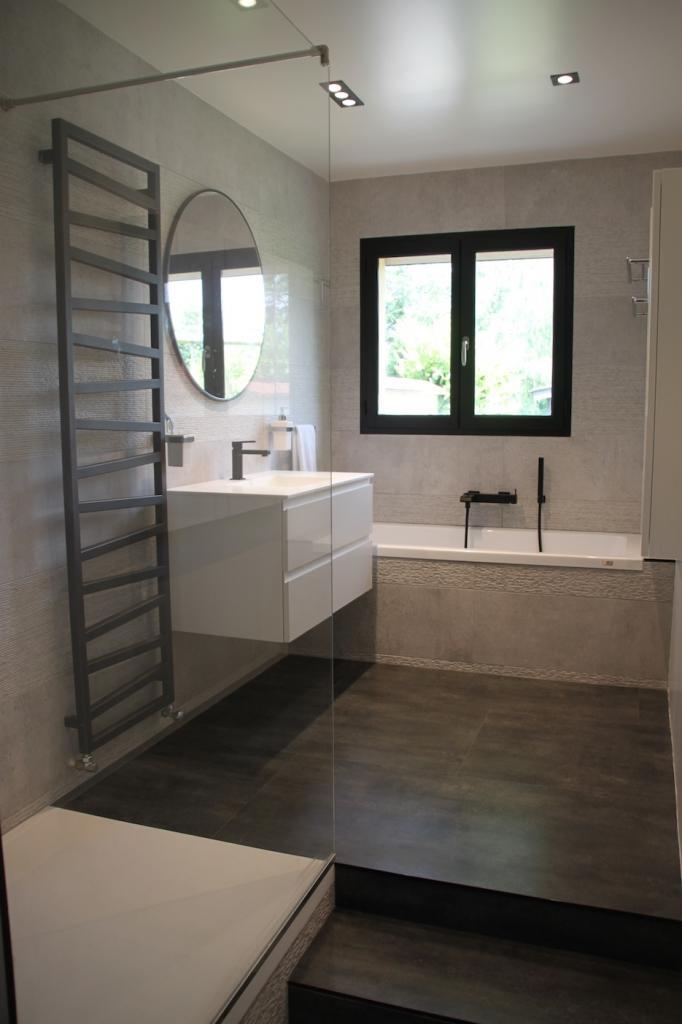 Salle De Bains Design Gris Noir Blanc Htel Luxe