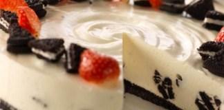cheesecake oreo e baunilha