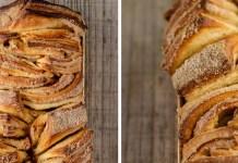 pão canela caseiro