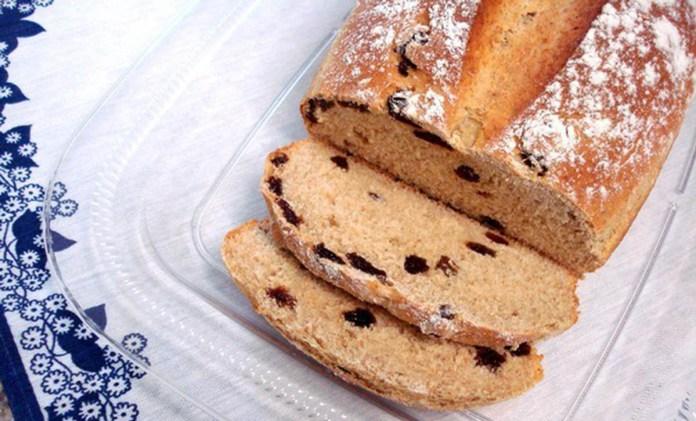 pão de centeio com passas