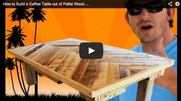 How To Build A Coffee Table Out Of Pallet Wood 1001 Pallets