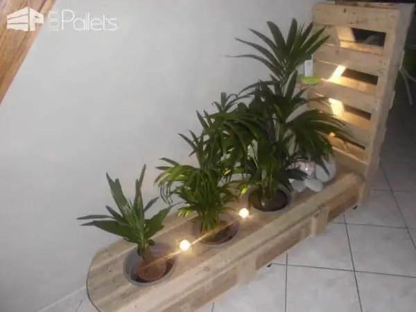 Pallet Indoor Planter With Lights 1001 Pallets