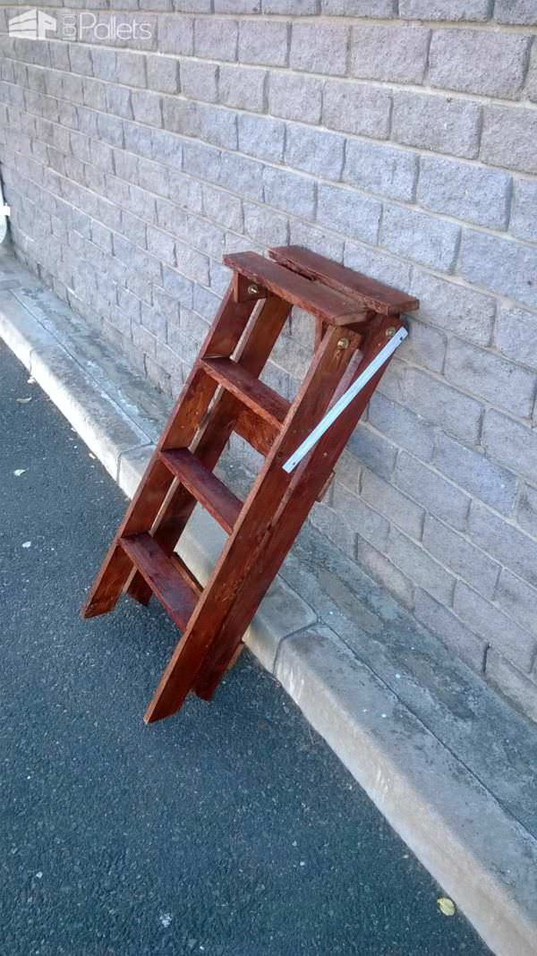 How To Make A Ladder From An Upcycled Pallet 1001 Pallets