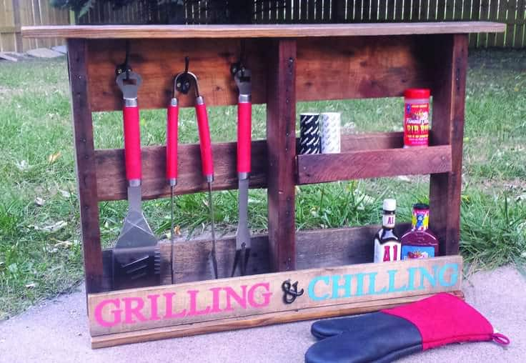 Grilling Shelf Out Of Pallet Wood 1001 Pallets