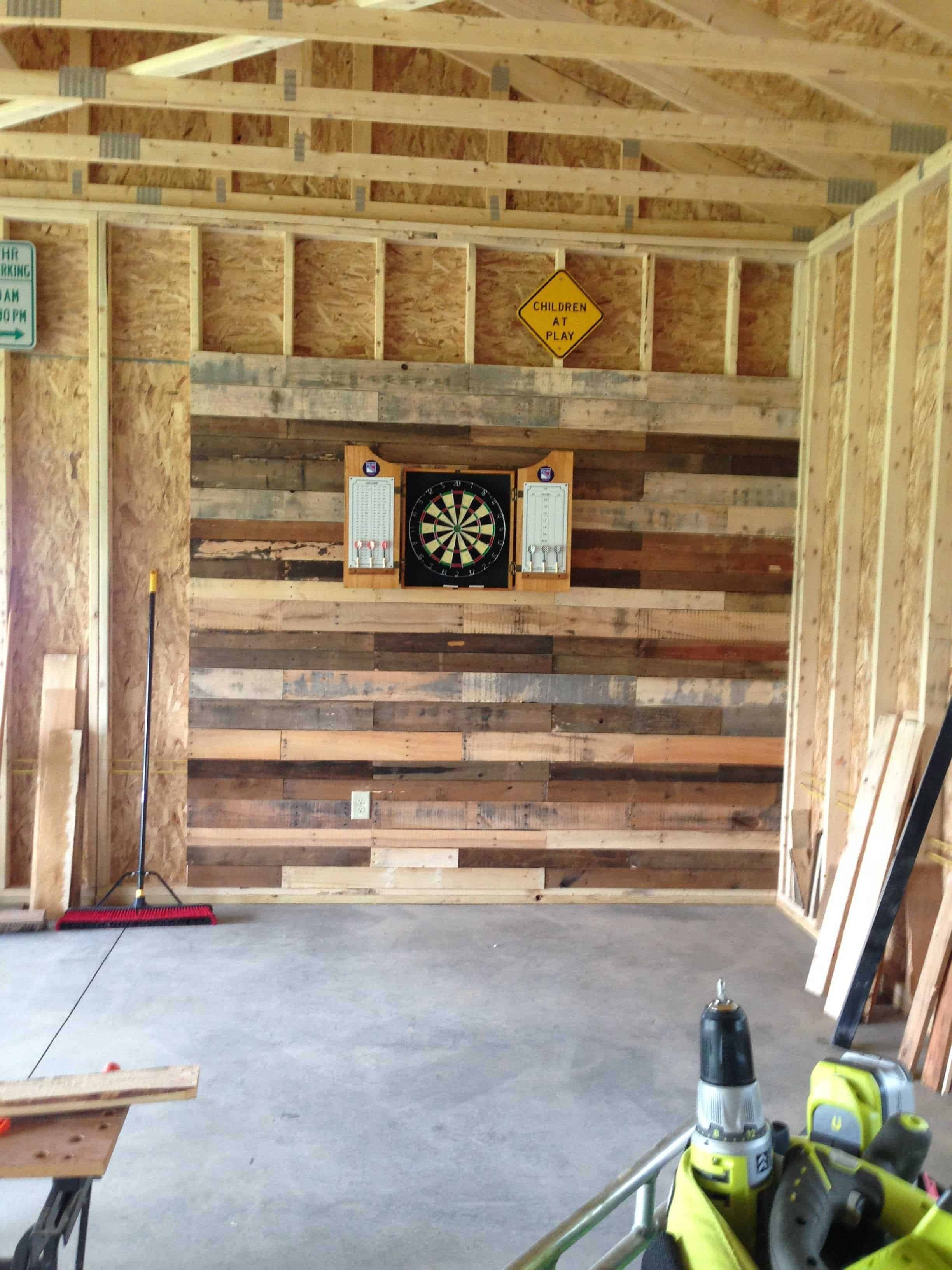 Pallet Wall For Dartboard Pallets