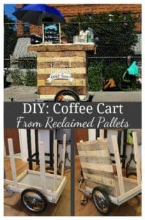 Diy Coffee Cart Made From Reclaimed Pallets In My Tiny N Y