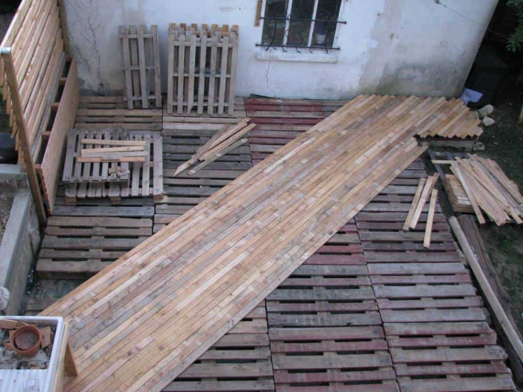 DIY PDF Tutorial Pallet Terrace Deck 1001 Pallets FREE DOWNLOAD