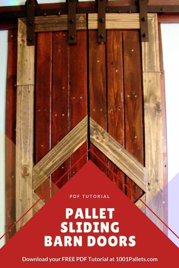 DIY PDF Tutorial Pallet Sliding Barn Doors 1001 Pallets FREE DOWNLOAD