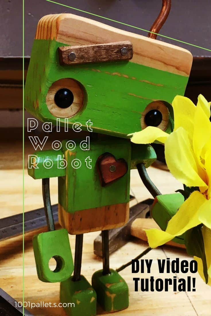 Pallet Wood Robot Melts Valentines Day Hearts 1001 Pallets
