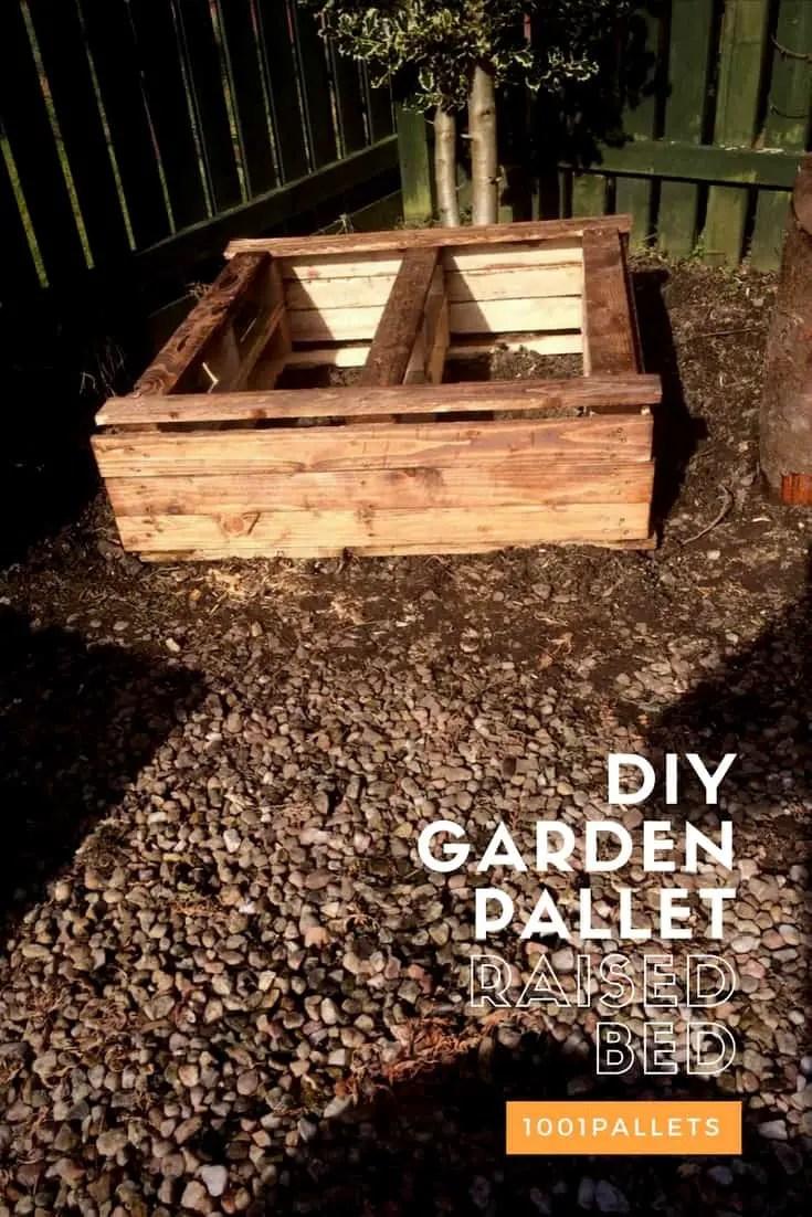 Diy Garden Pallet Raised Bed 1001 Pallets