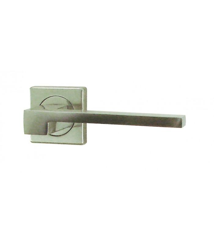 ensemble rosace carree sky aluminium nickele satine 1001poignees votre specialiste de la poignee de porte
