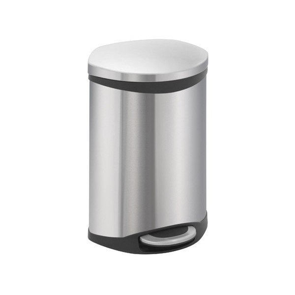 poubelle a pedale coquillage evolution inox mat 50 litres