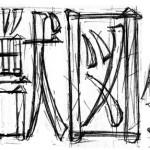 文字を作る。