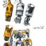 White OXの腕のスケッチ