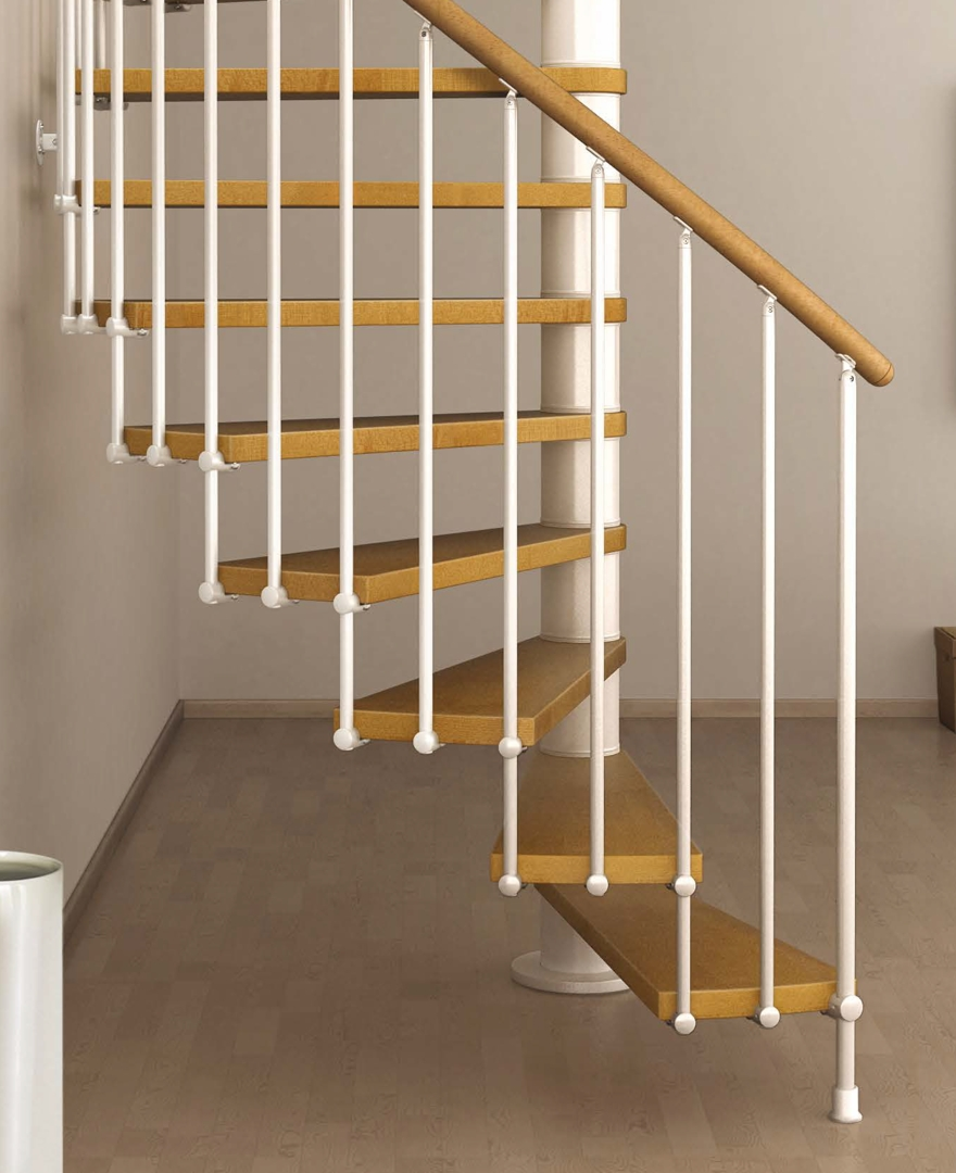 Space Saving Spiral Staircase Type Toscana L00L Stairs | Semi Spiral Staircase Design | Handrail | Inside | Semi Circular | Elegant | Residential Library