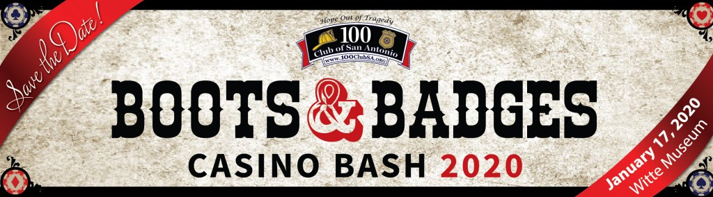 Boots and Badges Casino Bash Banner