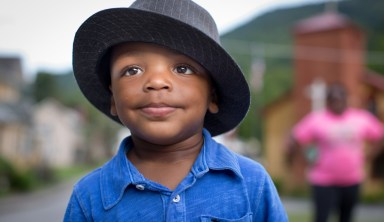 """Jakari Tinsley, age 2, lives in Lynch, Kentucky. His favorite word is """"No."""" Photo by Nancy Andrews"""