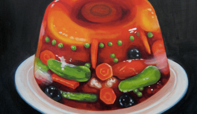"""""""Tomato Aspic,"""" oil on panel by Lina Tharsing."""