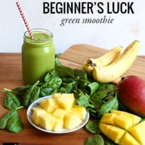 beginners luck green smoothie recipe