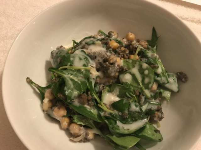Forest bowl with wild rice, mushrooms, and roasted garlic coconut gravy