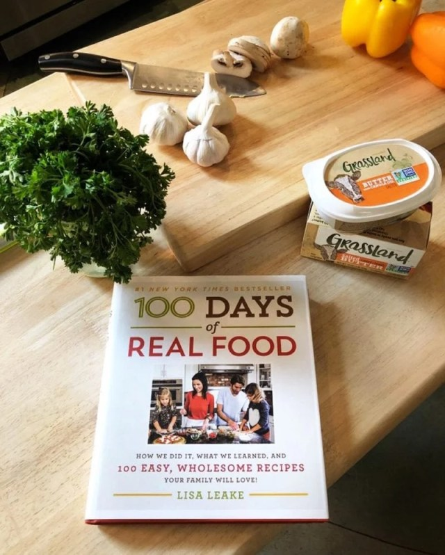100 Days of Real Food book and Grassland Butter