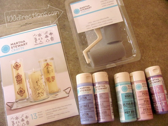 Martha Stewart Crafts paints and stencils